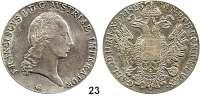 Österreich - Ungarn,Habsburg - Lothringen Franz I. (1792) 1806 - 1835Konventionstaler 1823 G, Nagybanya.  Kahnt 338.  Jl. 190.  Dav. 7.