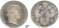 Österreich - Ungarn,Habsburg - Lothringen Ferdinand I., 1835 - 1848Taler 1841 A, Wien.  Kahnt 345.  Herinek 137.  Dav. 14.