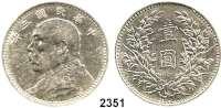 AUSLÄNDISCHE MÜNZEN,China Republik Dollar, Jahr 3 (1914).  Schön 33.  Y. 329.
