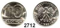 AUSLÄNDISCHE MÜNZEN,Polen Proba-Prägungen 10 Zlotych 1989.  4,37 g. (magnetisch).  Fischer P 130.  Parchimowicz P 288.