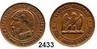 AUSLÄNDISCHE MÜNZEN,Frankreich Napoleon III. 1852 - 1870 Spottmedaille 1870 (Bronze).  Auf die Niederlage bei Sedan.  80000 PRISONNIERS.  27 mm
