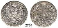 AUSLÄNDISCHE MÜNZEN,Russland Nikolaus I. 1825 - 1855 Rubel 1840, Sankt Petersburg. Schön Schön 73.  Y. 168.  Bitkin 191.