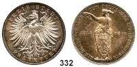 Deutsche Münzen und Medaillen,Frankfurt am Main Freie Stadt 1814 - 1866 Vereinstaler 1862.  Schützenfest.  Kahnt 171.  Thun 146.  AKS 44.  Jg. 51.  Dav. 653.