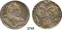 AUSLÄNDISCHE MÜNZEN,Russland Anna 1730 - 1740 Rubel 1732.  25,61 g.  KM Dav. 1670.  Bitkin 50..