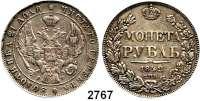 AUSLÄNDISCHE MÜNZEN,Russland Nikolaus I. 1825 - 1855 Rubel 1842, St. Petersburg.  Schön 73.  Cr. 168.1.  Bitkin 150.