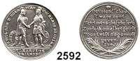 AUSLÄNDISCHE MÜNZEN,Niederlande  Silbermedaille 1741, Freundschaftsmedaille.  Jonathan und David reichen sich die Hand. / Schrift über Zweigen.  22,77 mm.  3,25 g.
