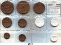 P O R Z E L L A N M Ü N Z E N,S T Ä D T E M Ü N Z E N Schleiz50 Pfennig bis 20 Mark.  Scheuch 222.a, 225.a, n, 228.a, 229.n, 231.a, n, 234.a, 237.a und 240.a.  LOT 10 Stück.