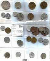 AUSLÄNDISCHE MÜNZEN,Mongolei  LOT von 31 verschiedenen Münzen.  Darunter 5 Möngö 1925 (2, 1x Variante