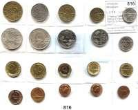 B U N D E S R E P U B L I K,L O T S      L O T S      L O T S 1 Pfennig 1949 F, 1969 J, 1990 J; 2 Pfennig 1960 D, 1991 D; 5 Pfennig 1949 F, 1950 G, 1989 D; 10 Pfennig 1949 F, 1950 D; 50 Pfennig 1949 D, 1950 D; 1 Mark 1950 D; 2 Mark 1951 D; 5 Mark 1951 J, 1969 G und Saarland-Satz 10, 20, 50 und  100 Franken 1954/55.  LOT 20 Stück.