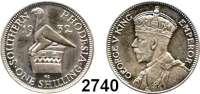 AUSLÄNDISCHE MÜNZEN,Rhodesien Südrhodesien 1 Shilling 1932.  Schön 5.  KM 3.