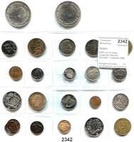 AUSLÄNDISCHE MÜNZEN,Belgien L O T S      L O T S      L O T S LOT von 23 meist modernen Münzen.  Darunter 1 Centime 1894(prfr); 1 Franc 1909FR; 250 Francs 1976FL und 1976FR.