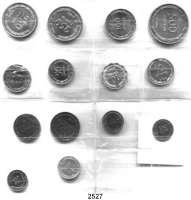 AUSLÄNDISCHE MÜNZEN,Israel  LOT von 14 verschiedenen Münzen von 1 Pruta bis 500 Pruta 1949.