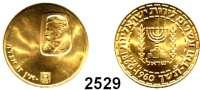 AUSLÄNDISCHE MÜNZEN,Israel  20 Lirot 1960.  (7,33g fein).  100. Geburtstag von Theodor Herzl.  Schön 18.  KM 30.  Fb. 1.  GOLD
