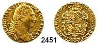 AUSLÄNDISCHE MÜNZEN,Großbritannien Georg III. 1760 - 1820 Guinea 1777.  8,37 g.  Spink 3728.  KM 604.  Fb. 355.  GOLD