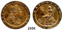 AUSLÄNDISCHE MÜNZEN,Großbritannien Georg III. 1760 - 1820 Penny 1797.  Spink 3777.  KM 618.