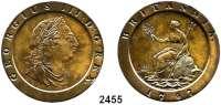 AUSLÄNDISCHE MÜNZEN,Großbritannien Georg III. 1760 - 1820 2 Pence 1797.  Spink 3776.  KM 619.