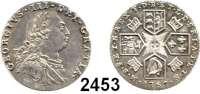 AUSLÄNDISCHE MÜNZEN,Großbritannien Georg III. 1760 - 1820 Sixpence 1787.  Wappen mit Herzen.  Spink 3749.  KM 606.2.