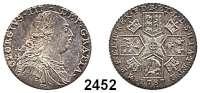 AUSLÄNDISCHE MÜNZEN,Großbritannien Georg III. 1760 - 1820 Shilling 1787.  Wappen ohne Herzen.  Spink 3743.  KM 607.1.