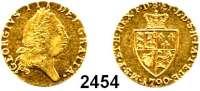 AUSLÄNDISCHE MÜNZEN,Großbritannien Georg III. 1760 - 1820 1/2 Guinea 1790.  4,18 g.  Spink 3735.  KM 608.  Fb. 362.  GOLD