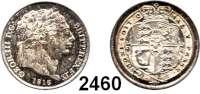 AUSLÄNDISCHE MÜNZEN,Großbritannien Georg III. 1760 - 1820 Sixpence 1816.  Spink 3791.  Kahnt/Schön 46.  KM 665.