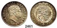 AUSLÄNDISCHE MÜNZEN,Großbritannien Georg III. 1760 - 1820 1/2 Crown 1818.  Spink 3789.  Kahnt/Schön 48 A.  KM 672.