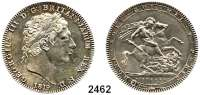 AUSLÄNDISCHE MÜNZEN,Großbritannien Georg III. 1760 - 1820 Crown 1819/LX.  Ohne Punkt nach TUTAMEN.  Spink 3787.  Kahnt/Schön 49.  KM 675.