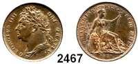 AUSLÄNDISCHE MÜNZEN,Großbritannien Georg IV. 1820 - 1830 Farthing 1821.  Spink 3822.  Kahnt/Schön 53.  KM 677.