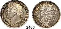AUSLÄNDISCHE MÜNZEN,Großbritannien Georg IV. 1820 - 1830 Half Crown 1820.  Spink 3807.  Kahnt/Schön 60.  KM 676.