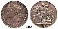 AUSLÄNDISCHE MÜNZEN,Großbritannien Georg IV. 1820 - 1830 Crown 1821.  Spink 3805.  Kahnt/Schön 61.  KM 680.1.