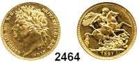 AUSLÄNDISCHE MÜNZEN,Großbritannien Georg IV. 1820 - 1830 Sovereign 1821.  (7,32g fein).  Spink 3800.  Kahnt/Schön 70.  KM 682.  Fb. 376.  GOLD