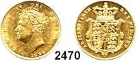 AUSLÄNDISCHE MÜNZEN,Großbritannien Georg IV. 1820 - 1830 Sovereign 1826.  (7,32g fein).  Spink 3801.  Kahnt/Schön 72.  KM 696.  Fb. 377.  GOLD