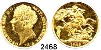 AUSLÄNDISCHE MÜNZEN,Großbritannien Georg IV. 1820 - 1830 2 Pfund 1823.  (14,64g fein).  Spink 3798.  Kahnt/Schön 73.  KM 690.  Fb. 375.  GOLD