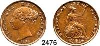 AUSLÄNDISCHE MÜNZEN,Großbritannien Viktoria 1837 - 1901 Half Penny 1854.  Spink 3949.  Kahnt/Schön 92.  KM 726.