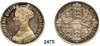 AUSLÄNDISCHE MÜNZEN,Großbritannien Viktoria 1837 - 1901 Gothic Crown 1847.  UN DECIMO auf dem Rand.  Spink 3883.  Kahnt/Schön 108.  KM 744.