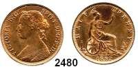 AUSLÄNDISCHE MÜNZEN,Großbritannien Viktoria 1837 - 1901 Half Penny 1882 H.  Spink 3957.  Kahnt/Schön 119.  KM 754.