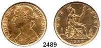 AUSLÄNDISCHE MÜNZEN,Großbritannien Viktoria 1837 - 1901 Penny 1887.  Spink 3954.  Kahnt/Schön 120.  KM 755.