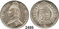 AUSLÄNDISCHE MÜNZEN,Großbritannien Viktoria 1837 - 1901 Half Crown 1887.  Spink 3924.  Kahnt/Schön 129.  KM 764.
