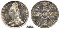 AUSLÄNDISCHE MÜNZEN,Großbritannien Viktoria 1837 - 1901 Doppel Florin 1887 (römische 1).  Spink 3922.  Kahnt/Schön 130.  KM 763.