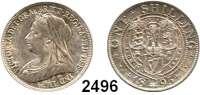 AUSLÄNDISCHE MÜNZEN,Großbritannien Viktoria 1837 - 1901 Shilling 1896.  Spink 3940.  Kahnt/Schön 142.  KM 780.