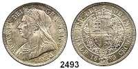 AUSLÄNDISCHE MÜNZEN,Großbritannien Viktoria 1837 - 1901 Half Crown 1893.  Spink 3938.  Kahnt/Schön 144.  KM 782.