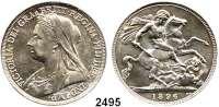 AUSLÄNDISCHE MÜNZEN,Großbritannien Viktoria 1837 - 1901 Crown 1896/LX.  Spink 3937.  Kahnt/Schön 145.  KM 783.