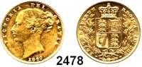 AUSLÄNDISCHE MÜNZEN,Großbritannien Viktoria 1837 - 1901 Sovereign 1869/31.  (7,32g fein).  Spink 3853.  Kahnt/Schön 114.  KM 736.2.  Fb. 387 i.  GOLD