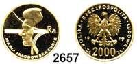 AUSLÄNDISCHE MÜNZEN,Polen Volksrepublik 2000 Zlotych 1979.  (7,2g fein).  Marie Curie.  Fischer KZ 023.  Schön 101.  Y. 107.  Fb. 123.  GOLD