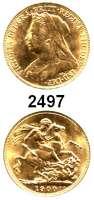 AUSLÄNDISCHE MÜNZEN,Großbritannien Viktoria 1837 - 1901 Sovereign 1900.  (7,32g fein).  Spink 3874.  Kahnt/Schön 147.  KM 785.  Fb. 396.  GOLD