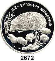 AUSLÄNDISCHE MÜNZEN,Polen Volksrepublik 20 Zlotych 1996.  Braunbrustigel.  Fischer K 010.  Schön 320.  Y. 312.