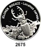 AUSLÄNDISCHE MÜNZEN,Polen Volksrepublik 20 Zlotych 1997.  Hirschkäfer.  Fischer K 013.  Schön 335.  Y. 330.