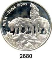AUSLÄNDISCHE MÜNZEN,Polen Volksrepublik 20 Zlotych 1999.  Wolfsfamilie.  Fischer K 018.  Schön 369.  Y. 382.