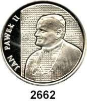 AUSLÄNDISCHE MÜNZEN,Polen Volksrepublik 10.000 Zlotych 1989.  Papst Johannes Paul II..  Fischer K 067.  Schön 194.  KM 189.