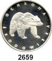 AUSLÄNDISCHE MÜNZEN,Polen Volksrepublik 100 Zlotych 1983.  Braunbär.  Fischer K 028.  Schön 142.  Y. 147.
