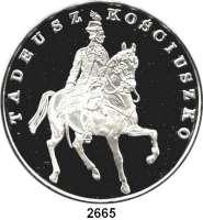 AUSLÄNDISCHE MÜNZEN,Polen Volksrepublik 200.000 Zlotych 1990 (5 Unzen).  Tadeusz Kosciuszko zu Pferd.  Fischer K 084.  Schön 214.  KM 203.  Mit Zertifikat.